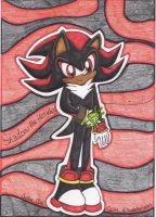 .: Shadow and his Chaos Emerald~ :. by Chrissie-Blue