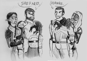 The meeting Hawke and Shepard by spaceMAXmarine