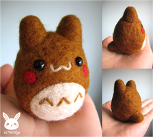 Felted Gingerbread Totoro by xxNostalgic