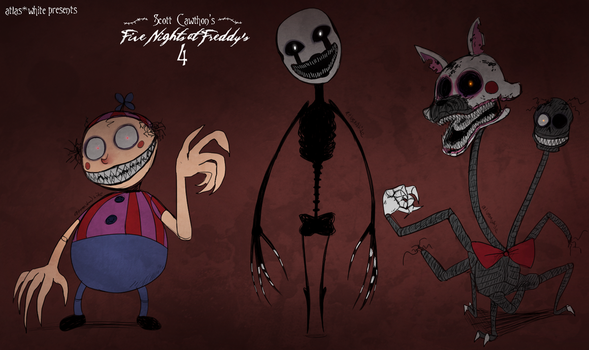 Five Nights at Freddy's 4: The New Nightmares by Atlas-White