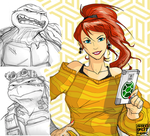 Raph Donnie and April by DonWily-ROBOTNIK
