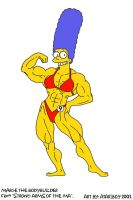 Marge All Pumped Up. by Atariboy2600