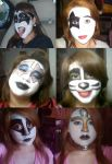 KISS make ups by AdhyGriffin
