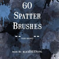 60 Spatter Brushes by blackRAVENsong