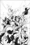Inking Leinil Yu New Avengers by RansomGetty