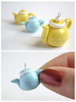 Teapot charms by thinkpastel