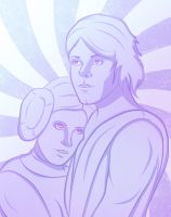 Leia and Luke by forcecrush
