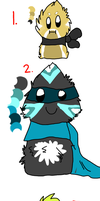 Scarfblobs Adoptles c: by LordNative