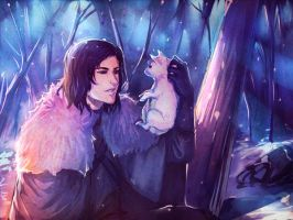 Jon and Ghost by moni158
