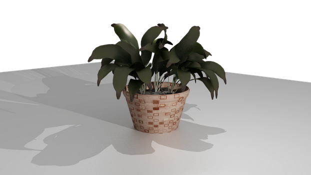 Pot with flower by vLine-Designs