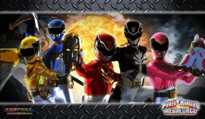 Power Rangers Megaforce Wallpaper 4 by scottasl