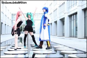 Vocaloid Action I by mew-Keikei