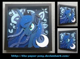 Commission: Gamer Luna Shadowbox by The-Paper-Pony