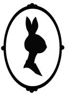 Bunny silhouette portrait by Bitterest