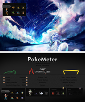PokeMeter - Pokemon Skin for Rainmeter by CodeNamePlayer