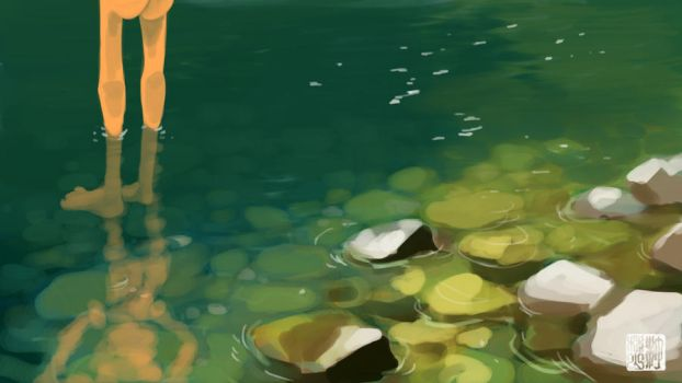 Clear Green Waters by tohdraws