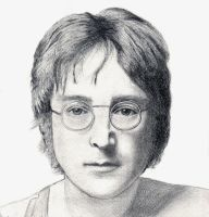 Drawing of photo of John Lennon by Yoko by MountainHippie