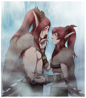 Dragon Twins - Fanart by shorty-antics-27