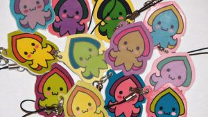 Cuddlyfish Cellphone Charms by WhimzicalWhizkerz