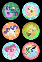 Mane Six by Birvan