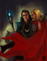 Avengers-Thor and Loki by Moonlight-Mage-Shiro