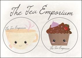 Kawaii Teacup and Muffin logo by KateBloomfield