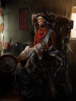 The Knitter by damir-g-martin