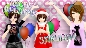 [MMD x Life] HAPPY BIRTHDAY SAKU!!! by LoverCathy