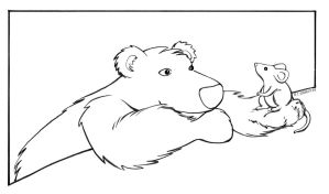 Bear and mouse for nirelstock by renonevada