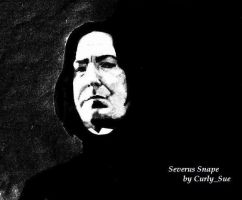 Alan Rickman as Severus Snape by CurlySue1