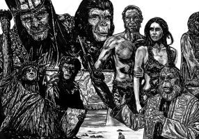 planet of the apes by FDupain