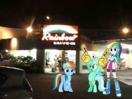 Rainbow's Drive-In by NewportMuse