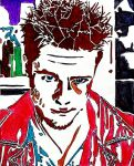 Tyler Durden Stencil Color by Zed-of-Venice