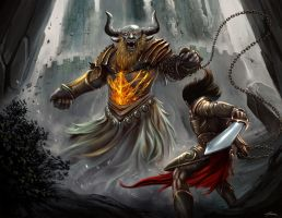 Minotaur Last Fight by AMD-Design