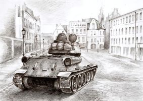 Tank in the city by Ikarus-001