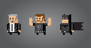 8 bit looking vector people 2 by gelerli