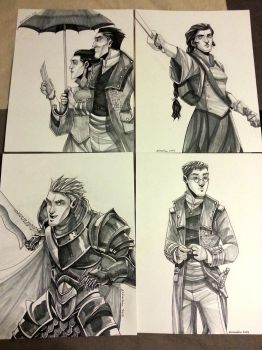 Stormlight Archive - Ink Drawings by ex-m