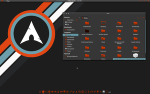 Greyness-BlueOrange GTK Theme Screenshot by CraazyT