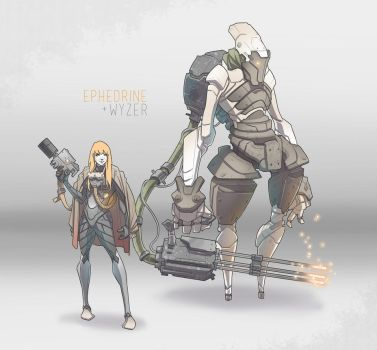 Character Concepts / Ephedrine and Wyzer by BrotherBaston