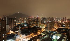 Santiago by night by DamphireX