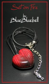 Set on Fire necklace by BlueBluebell