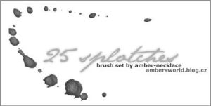 Splotches brush set by amber-necklace