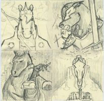 Four Horse-men of the Apocalypse. by jmaur82