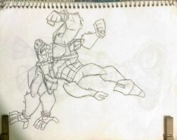 Ben 10 Omniverse: Four Arms (uncolored) by SpiderDetentionaire