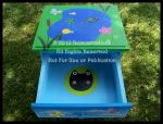 Happy Frog Pond Nightstand - Open View by ReincarnationsDotCom