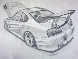 Nissan Silvia s15 drift car by tolgadinmez