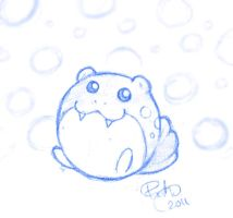 Spheal Sketch by firehorse6