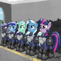 Unicorn Corps by lunarapologist