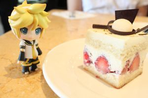 Len and Strawberry Shortcake by lin17