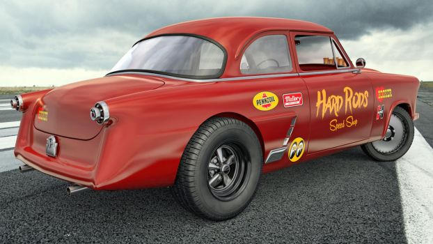 1952 Ford Mainline Gasser by SamCurry